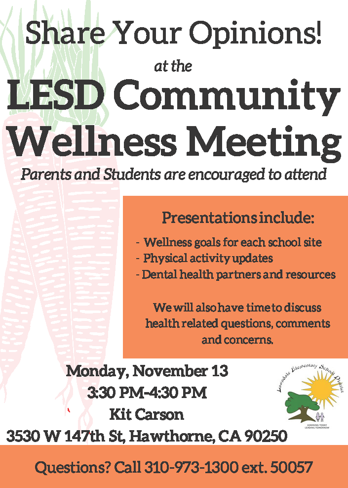 community wellness flyer