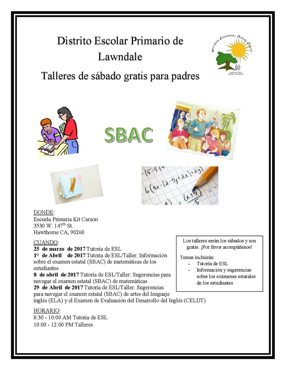 parent workshop flyer spanish