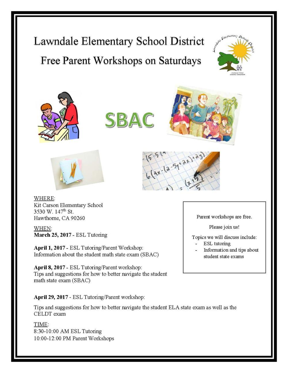 parent workshop flyer english